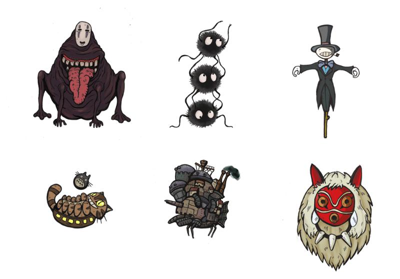 Miyazaki stickers