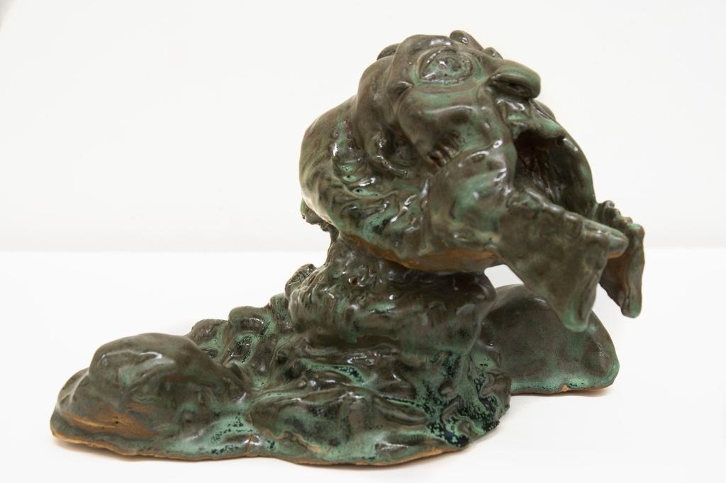 """""""Relica Martiana"""" 9in x 12 in ceramic glazed"""
