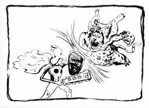 Inktober Day 17: Battle
