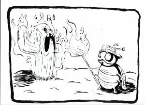 Inktober Day 28: Burn